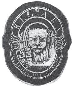 Disegno tratto da un distintivo delle Guardie Boschive di San Marco del 1793 (V. de Savorgnani)